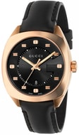 Gucci GG2570 Black Dial Rose Gold-Tone Ladies Watch